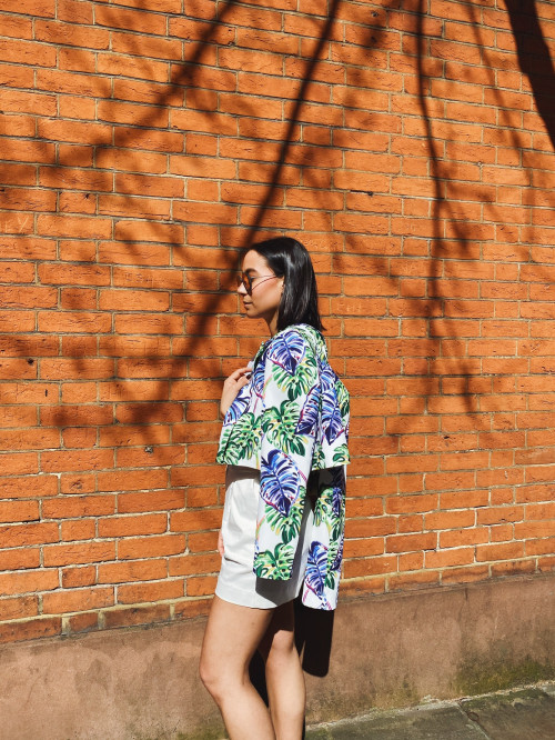 Fly Jacket - Floral Print by Jessica K on curated-crowd.com