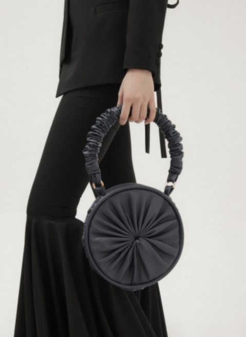 Navy Small Soleil Tote by 0711 Tbilisi on curated-crowd.com