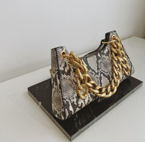 Roccia Snake-effect leather Froggy Bag by APEDE MOD on curated-crowd.com