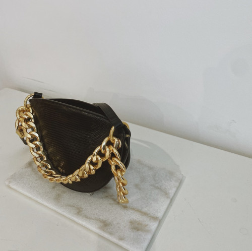Black Lizard Crescent Bag by APEDE MOD on curated-crowd.com
