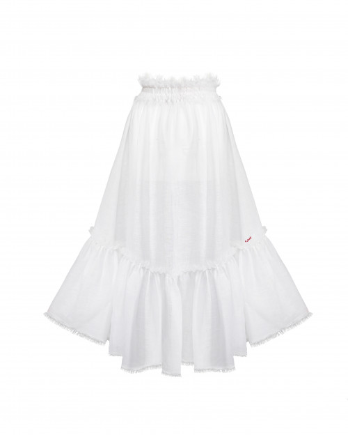 Long Skirt with Smocked Belt by Atelier Handmade on curated-crowd.com
