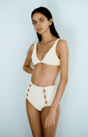 Medusa High Waisted Bottoms by Medina Swimwear on curated-crowd.com