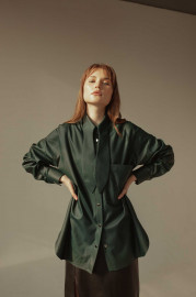 Eco-Leather Shirt by Z.G.EST on curated-crowd.com