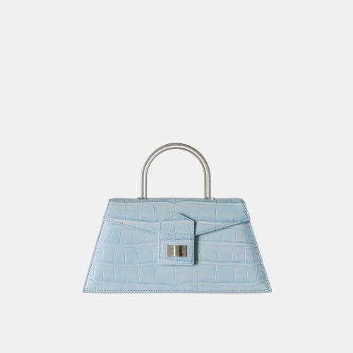Sky Blue Croc Medium Le Book Bag by APEDE MOD on curated-crowd.com