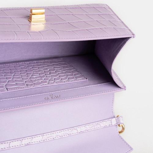 Purple Croc Medium Le Book Bag by APEDE MOD on curated-crowd.com