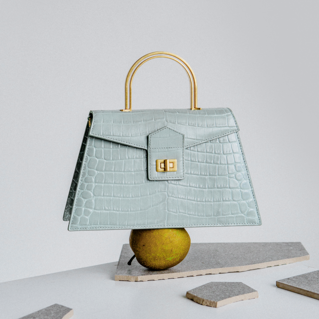 Mint Croc Large Le Book Bag by APEDE MOD on curated-crowd.com