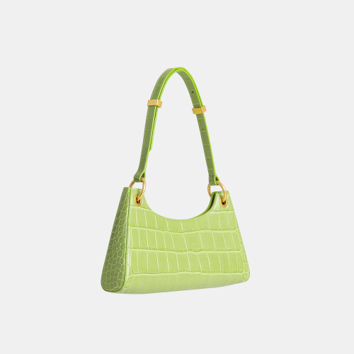 Green Croc Froggy Shoulder Bag by APEDE MOD on curated-crowd.com
