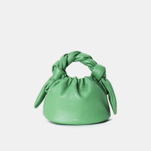 Matcha Knotty Bun Bag by APEDE MOD on curated-crowd.com