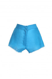 Blue Linen Shorts by Atelier Handmade on curated-crowd.com