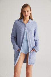 Lilac Knit Cardigan by Labeca London on curated-crowd.com