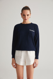 Navy Sweater by Labeca London on curated-crowd.com
