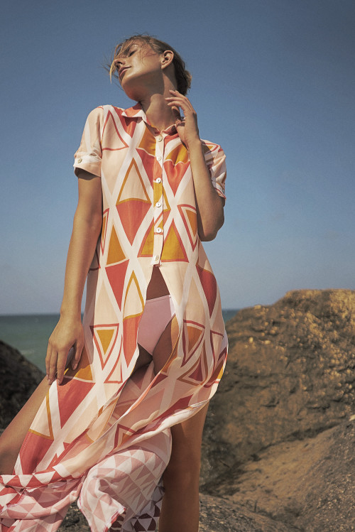 Mara Shirt Cover-Up by Van Dalsky on curated-crowd.com