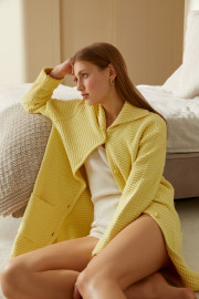 Portofino Yellow Knit Cardigan by Labeca London on curated-crowd.com