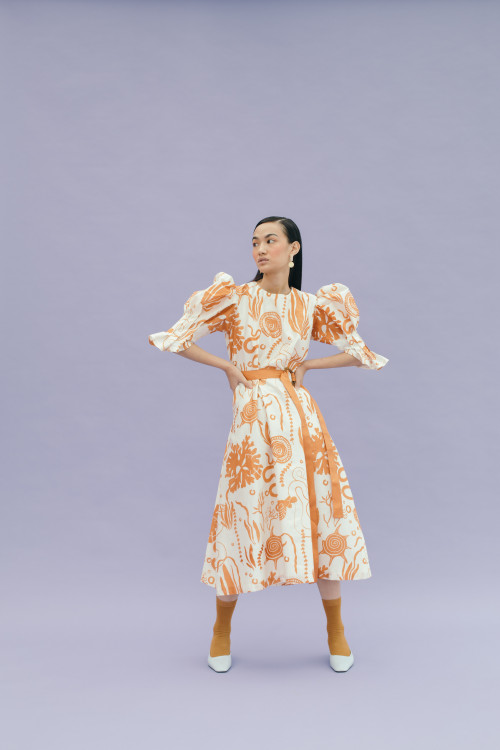 Coral Dress by Little Things Studio on curated-crowd.com