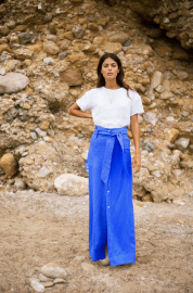 Nomade Skirt in Klein Blue by Oramai London on curated-crowd.com