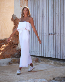 Ibiza Set Trousers in White by Oramai London on curated-crowd.com