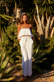 Ibiza Set Top in White by Oramai London on curated-crowd.com