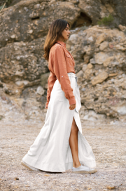 Nomade Skirt in White by Oramai London on curated-crowd.com
