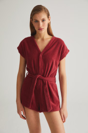 Berry Terry Romper by Labeca London on curated-crowd.com