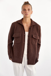 Chocolate Cashmere Jacket by Labeca London on curated-crowd.com
