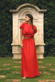 Azur Red Co-Ord by Jessica K on curated-crowd.com