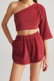 Berry Terry Shorts by Labeca London on curated-crowd.com