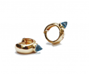 Huggie Hug Small Hoop Earrings, 18k gold by MAVIADA on curated-crowd.com