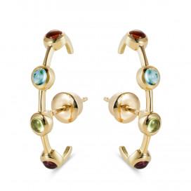 Rainbow Earcuff Earrings, 18k gold by MAVIADA on curated-crowd.com