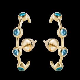 Swiss Blue Earcuff Earrings, 18k gold by MAVIADA on curated-crowd.com