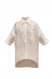 Bird Embroidered Shirt by Atelier Handmade on curated-crowd.com