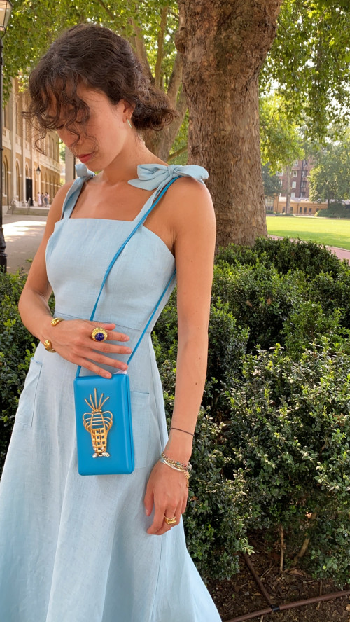 Lobster Bag Cl - Blue by Sonia Petroff on curated-crowd.com