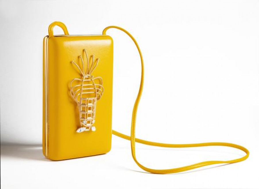 Lobster Bag Cl - Yellow by Sonia Petroff on curated-crowd.com
