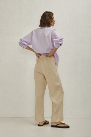Elastic Waist Linen Trousers by AG Studio on curated-crowd.com