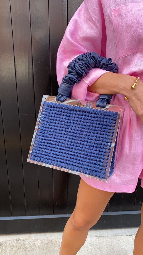 Navy St. Barts Purse by 0711 Tbilisi on curated-crowd.com