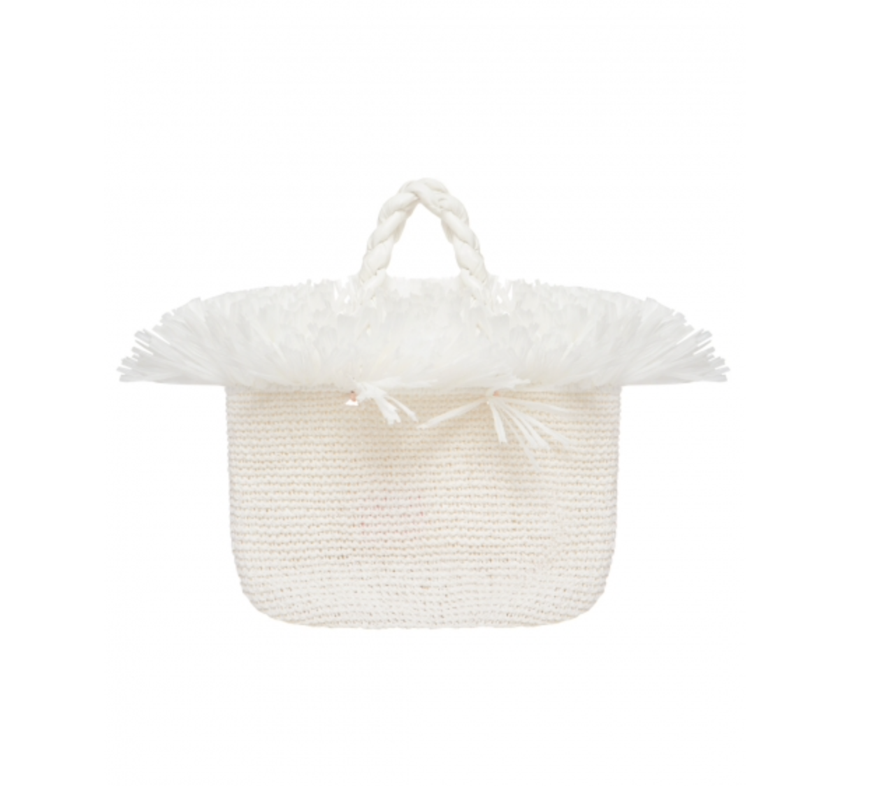 White Large Malibu Bag by 0711 Tbilisi on curated-crowd.com