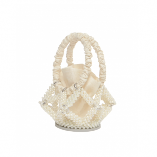Ivory Star Bucket Bag by 0711 Tbilisi on curated-crowd.com