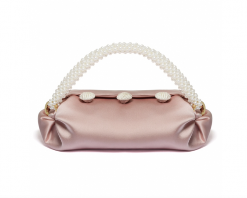Blush Small Nino Tote by 0711 Tbilisi on curated-crowd.com