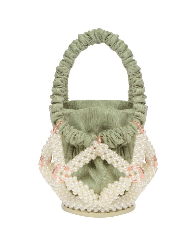 Green Star Bucket bag by 0711 Tbilisi on curated-crowd.com