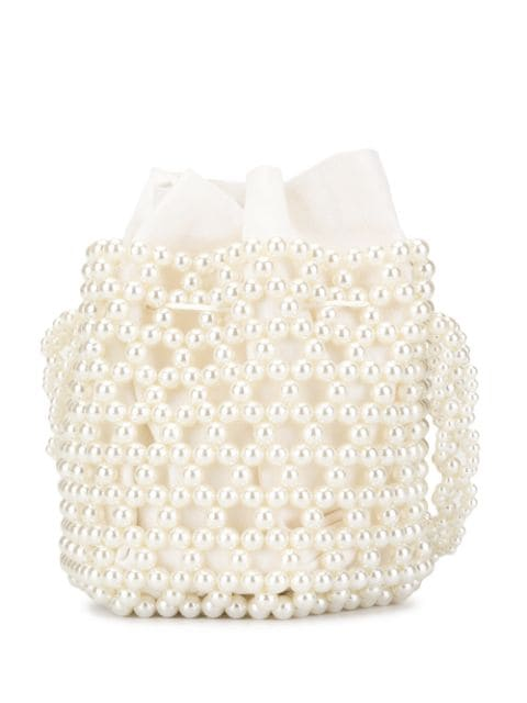Ivory Bibi Bucket Bag by 0711 Tbilisi on curated-crowd.com