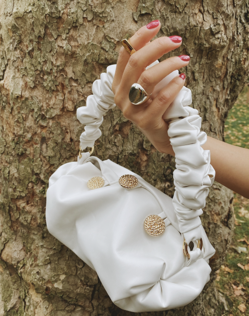 White Small Nino Tote by 0711 Tbilisi on curated-crowd.com