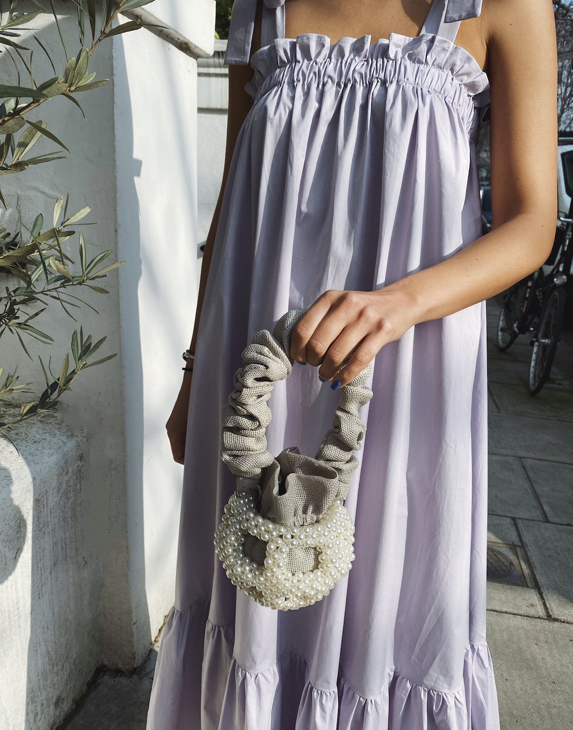 Grey Small Mei Bucket Bag by 0711 Tbilisi on curated-crowd.com