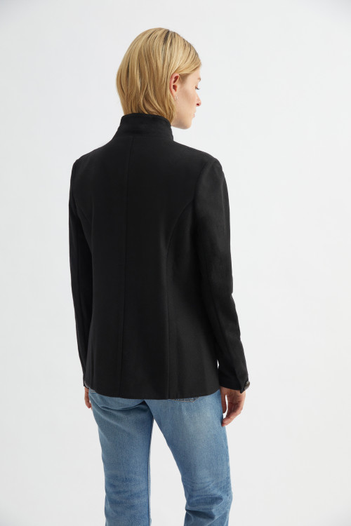 Black Wool Blazer by Labeca London on curated-crowd.com