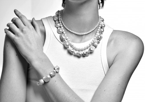 Vanessa Oversized Pearl Choker by Emili on curated-crowd.com