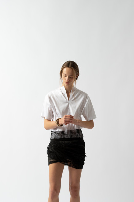 Slit Neck T-Shirt by Sharon Wauchob on curated-crowd.com