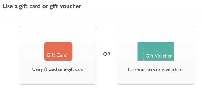 Voucher and Gift Card