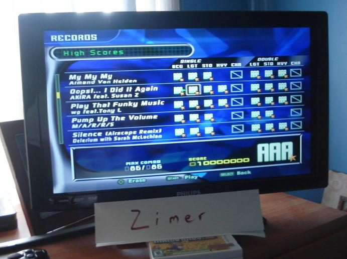 Proofs for Dance Dance Revolution Extreme 2 – Video game high scores