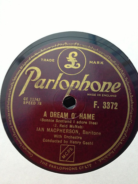 Ian Macpherson A Dream O' Hame / My Ain Folk