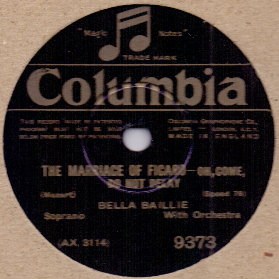Bella Baillie The Marriage Of Figaro - Oh Come Do Not Delay / You Who Have Knowledge