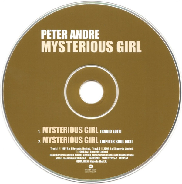 PETER ANDRE - Mysterious Girl - CD
