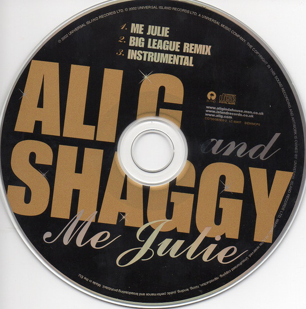 ALI G & SHAGGY - Me Julie - CD